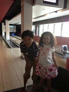 Tom & Emma at Red Pin Bowling